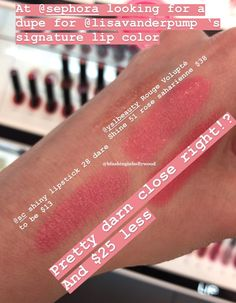 Dupe for YSL Rouge Volupte Shine 51 Rose Saharienne – Blushing in Hollywood I posted last week that Lisa Vanderpump's Rose Lipstick, Natural Lipstick, Pink Lipsticks, Blush Dupes, Ysl Rouge Volupte Shine, Lisa Vanderpump, Ysl Beauty, Lip Palette, Pink