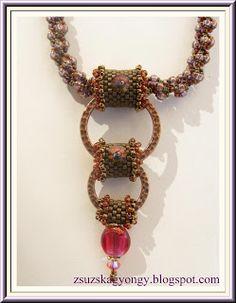 Zsuzska gyöngyvilága: Csavart nyaklánc