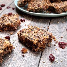 Toasted Sesame & Cranberry Black Rice Bars