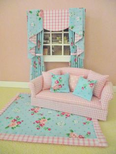 Handmade miniature dolls house living room by minimaisonminiatures, $28.00