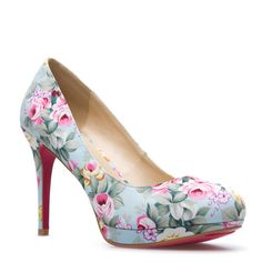Shoedazzle's Madelaine Floral Pump! Ready for Spring/Summer! Pair these with a bright yellow dress!