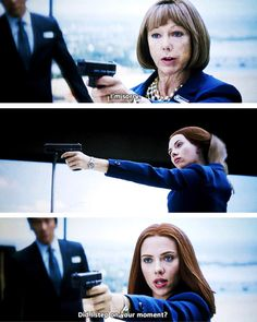 """Black Widow, Captain America, Avengers: """"Did I step on your moment?""""- She is awesome Marvel Memes, Marvel Dc Comics, Marvel Avengers, Marvel Quotes, Marvel Girls, Marvel Funny, Captain Marvel, Tom Holland, Avengers"""