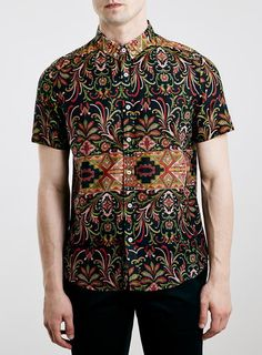 Oxford Lads Patterned Short Sleeve Shirt | TOPMAN saved by #ShoppingIS