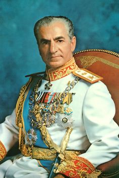 Mohammad Reza Pahlavi—Shah of Iran. [Not sure if this is a photo or a painting.]