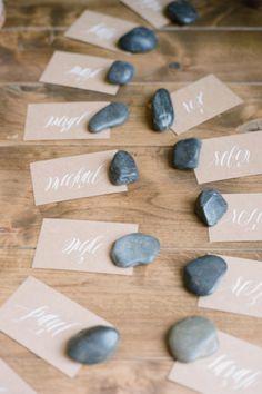 rock wedding escort cards