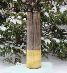 Impressive gigantic vintage ceramic Floor Vase by ThreeCrownsRetro