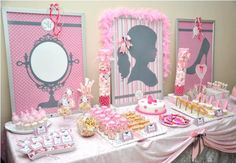 Kara's Party Ideas Model Inspired 4th Birthday All Things Girl Pink Girly Party