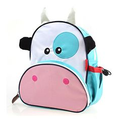 Designer Clothes, Shoes & Bags for Women Cute Backpacks, School Backpacks, Animals For Kids, Baby Accessories, Unisex, Cute Cartoon, Cute Babies, Cow, Hiking