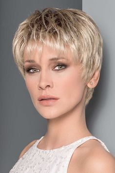 Aura by Ellen Wille Wigs - Mono Top, Hand Tied, Extended Lace Front Wig - Wigs Short Hair With Layers, Short Hair Cuts For Women, Short Hairstyles For Women, Short Pixie Haircuts, Pixie Hairstyles, Formal Hairstyles, Celebrity Hairstyles, Cropped Hairstyles, Stylish Hairstyles