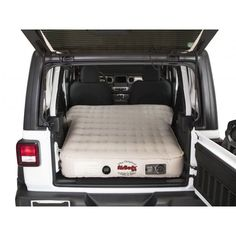 Now you can be assured to have a comfortable night's sleep or a good place to take a break with the AirBedz Inflatable Air Mattress. This heavy-duty inflatable air mattress is designed to fit inside the Jeep, with the seats folded down or removed. Jeep Wrangler Sahara, Sahara Jeep, Jeep Wrangler Unlimited Rubicon, Jeep Wrangler Girl, Jeep Sahara Unlimited, White Jeep Wrangler, Jeep Camping, Jeep Wrangler Camping, Jeep Wrangler Interior