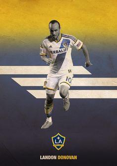 MLS Posters on Behance - Landon Donovan - LA Galaxy