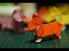 웰시코기 종이접기 [진진종이접기]웰시코기접기 Corgi  origami,dog origami