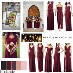 Burgundy Fall Color Mix and Match Bridesmaid Dresses. Join the (bridal) party at www.brideside.com/sign-up. Shop for the best bridesmaid dresses, meet your complimentary style consultant and try on dresses at home. Styled by Brideside style consultant Cecilie Davila.