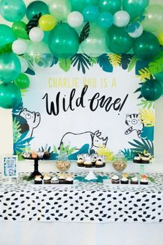 Wild One First Birthday Printable Party Decorations DOWNLOAD