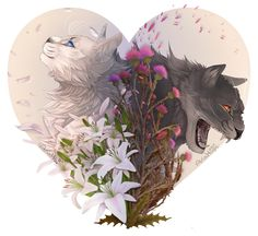 2 sides + Flowers by Aria-Hope.deviantart.com on @DeviantArt