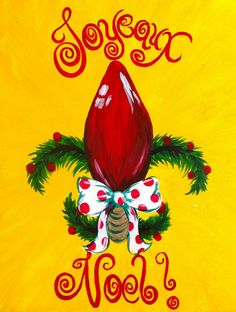 Christmas fun with fleur de lis!