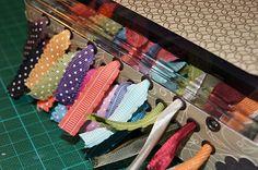 Self made ribbon storage Washi Tape Storage, Ribbon Storage, Creative Storage, Craft Storage, Storage Organization, Storage Ideas, Organizing, My Sewing Room, Getting Organized