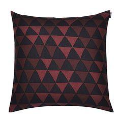 Hippa cushion cover, brown, by Marimekko.