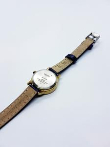 Ladies Tiny Gold Timex Indiglo Date Watch | Blue Leather Timex Watch – Vintage Radar Retro Watches, Vintage Watches, Watches For Men, Timex Indiglo, American Manufacturing, Timex Watches, Watch Model, Timeless Beauty