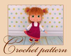 Masha - Amigurumi Crochet Pattern PDF file by Anna Sadovskaya by KnittLife on Etsy https://www.etsy.com/il-en/listing/458547008/masha-amigurumi-crochet-pattern-pdf-file
