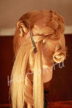 как сплести косу восьмерку