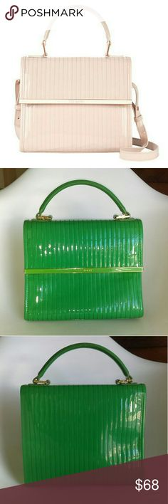 """Ted Baker Quilted Tote Purse in Green Super cute preloved Ted Baker bag! This bag is a gorgeous green color, the photos don't do it justice. I lost the crossbody strap but I used to carry it by the handle and there is a little wear on the handle, that can be seen in the 7th photo. It has a little black mark on the back that is seen in the 4th photo.   Inside it has a large zipper pocket and a little pocket for lipstick and one for your phone. It is approximately 10"""" across and 8.5"""" tall (not…"""