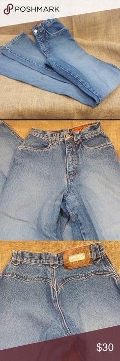"""Vintage High Waist Mom Jeans - Size 0 Vintage High Waist  Mom Jeans - Size 0 - waist 24 - Length 45"""" Lawman Jeans"""