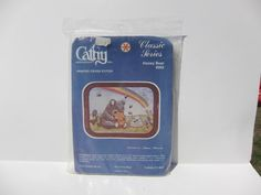 printed cross stitch kit Honey Bear vintage new by MNPrairieCrafts, $7.50