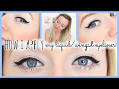 How to Apply Liquid + Winged Eyeliner