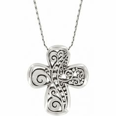 Love Affair Reversible Cross Necklace  available at #Brighton