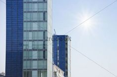 High-rise building with solar front Freiburg im Breisgau Baden-Wuerttemberg Germany Europe