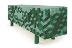 Original 3D Geometric Patterns Defining The Causeway Sideboard by Pedro Sousa