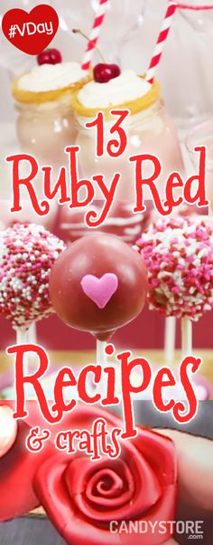 red recipes and crafts for Valentines Day