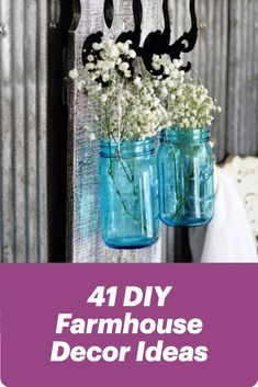 DIY Farmhouse Decor Ideas for rustic furniture, home decor and gifts. Cool and creative projects to make and sell on Etsy, too! Learn how to make inexpensive vintage inspired furnishings for a stylish home on a budget. Farm house looks for less, many inpsired by Joanna Gaines and Magnolia Market.