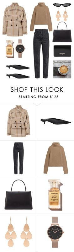 """Unbenannt #1241"" by fashionlandscape ❤ liked on Polyvore featuring Totême, Balenciaga, The Row, CÉLINE, Irene Neuwirth and Topshop"