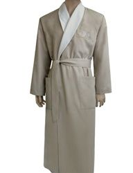 6e2feecc4c Stone   White Bathrobe