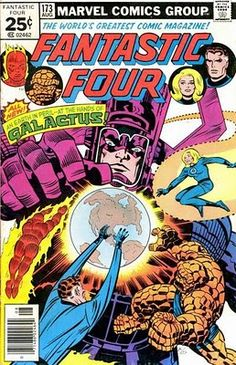 Fantastic Four 173. The FF tackle Galactus on Counter-Earth. Jack Kirby cover. #JackKirby #Galactus #FantasticFour