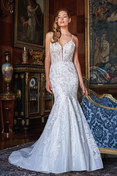 #JasmineBridal #Couture #T222006 #mermaid #amazing Backless Mermaid Wedding Dresses, Bridal Wedding Dresses, Bridal Lace, Jasmine Bridal, Long Sleeve Gown, Mothers Dresses, Ball Gowns, Flower Girl Dresses, Bride