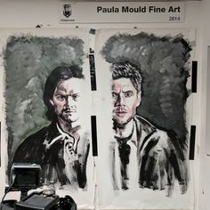 Nearly done the first 2 #imalive paintings for #seacon  #art #supernatural #spnsea #spnfamily #deanwinchester #samwinchester #jaredpadalecki #jensenackles