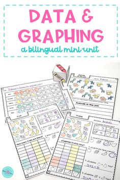 1st grade students will love this data and graphing mini-unit.  Students engage in data collection activities with recording sheets to practice pictographs, bar graphs and tally marks. These lessons align with Common Core standards. #MathActivities