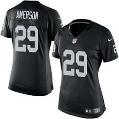 Nike Limited David Amerson Black Women's Jersey - Oakland Raiders #29 NFL Home