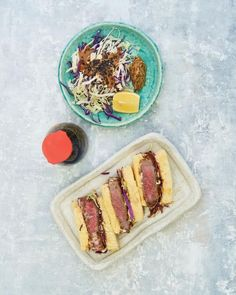 Sushi Fish, Nigiri Sushi, Soy Chicken, Ginger Chicken, Pork Loin Chops, Pork Cutlets, Spicy Tuna Salad, Katsu Recipes, Tonkatsu Sauce