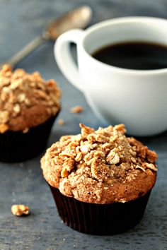 Apple Pie Muffins {Apple Streusel Muffins}