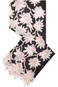 Valentino floral-print silk chiffon scarf
