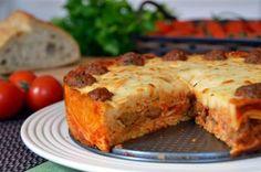 Meatball Spaghetti Pie