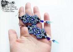 #fashion #art #jewelry Cosmic earrings Colorful earrings Blue earrings  by LadyLunarCat