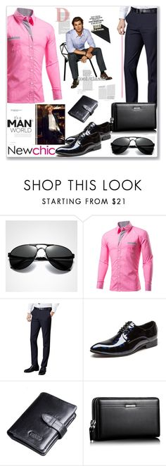 """""""Newchic Anniversary SALE !"""" by pesanjsp ❤ liked on Polyvore featuring men's fashion, menswear and newchic"""