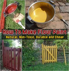 DIY: How To Make Flour Paint (Natural Non-Toxic Durable & Cheap)