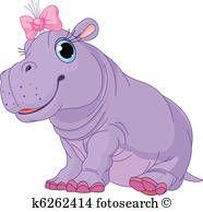 Caricatura Bebe Hipopotamo Nina Dibujos De Animales Imagenes