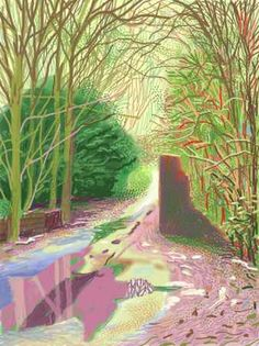 David Hockney -Ipad with clever pink puddle